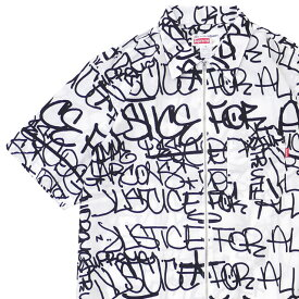 シュプリーム SUPREME x COMME des GARCONS SHIRT コムデギャルソン シャツ Graphic S/S Shirt 半袖シャツ WHITE 215001305040+【新品】