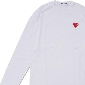 プレイ コムデギャルソン PLAY COMME des GARCONS MENS RED HEART WAPPEN LS TEE 長袖Tシャツ WHITE ホワイト 白 メンズ 200007741040