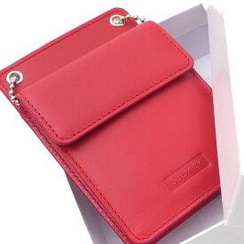 シュプリーム SUPREME Leather ID Holder + Wallet ウォレット 財布 RED レッド 赤 メンズ 271000391113