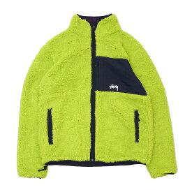 ステューシー STUSSY Reversible Micro Fleece Jacket リバーシブル ジャケット LIME GREEN ライムグリーン メンズ 420000261047