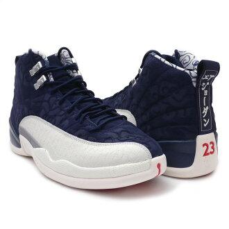 sale retailer ae017 de21a Nike NIKE AIR JORDAN 12 RETRO PRM Air Jordan COLLEGE NAVY/UNIVERSITY RED  BV8016-445 men 191013243307