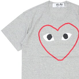 プレイ コムデギャルソン PLAY COMME des GARCONS MENS HEART OUTLINE TEE Tシャツ GRAY グレー 灰色 メンズ 新作