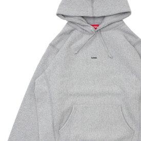 新品 シュプリーム SUPREME 19FW Micro Logo Hooded Sweatshirt パーカー GRAY グレー 灰色 メンズ 2019FW 19AW 2019AW 新作
