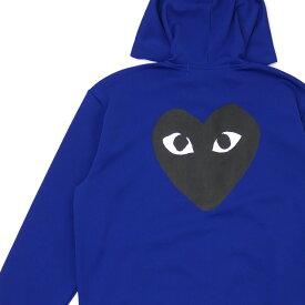 新品 プレイ コムデギャルソン PLAY COMME des GARCONS MENS JERSEY BLACK HEART ZIP HOODIE パーカー BLUE ブルー 青 メンズ