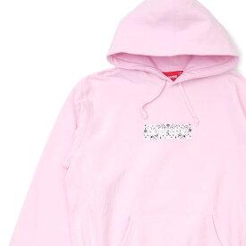 新品 シュプリーム SUPREME Bandana Box Logo Hooded Sweatshirt バンダナ ボックスロゴ フーディー スウェット パーカー PINK ピンク メンズ 新作 39ショップ