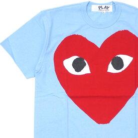 新品 プレイ コムデギャルソン PLAY COMME des GARCONS MENS BIG RED HEART TEE Tシャツ LIGHT BLUE ブルー 青 メンズ 新作