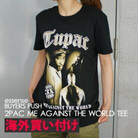 【14:00までのご注文で即日発送可能】 【海外買付】 ツーパック オフィシャル 2PAC OFFICIAL ME AGAINST THE WORLD TEE Tシャツ BLACK ブラック 黒 メンズ