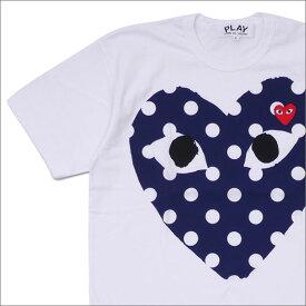 PLAY COMME des GARCONS プレイ コムデギャルソン MEN'S DOT HEART TEE Tシャツ WHITE 200007704050x【新品】