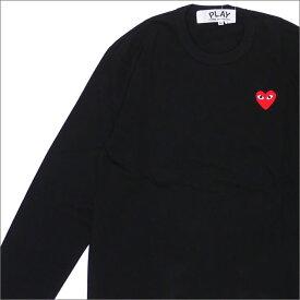 PLAY COMME des GARCONS プレイ コムデギャルソン MEN'S RED HEART L/S TEE 長袖Tシャツ BLACK 200007741041x【新品】