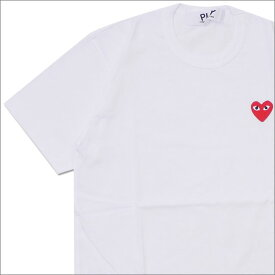 PLAY COMME des GARCONS プレイ コムデギャルソン MEN'S RED HEART ONE POINT TEE Tシャツ WHITE 200007772030x【新品】
