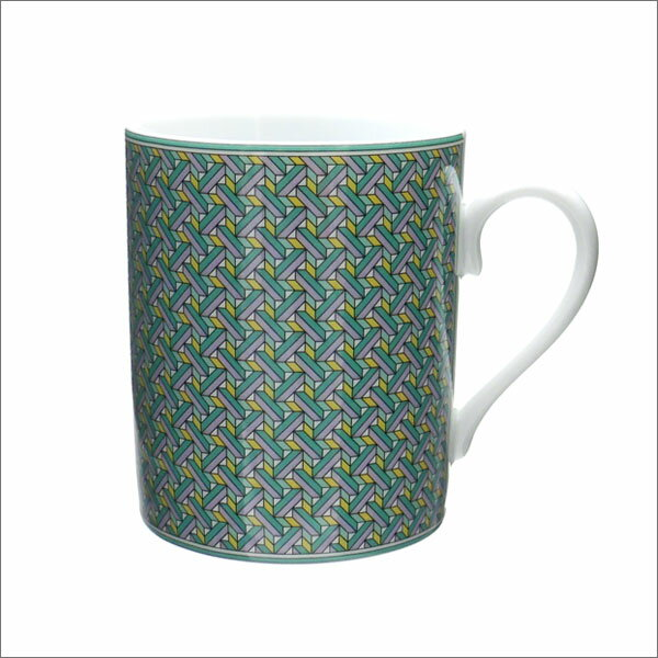 HERMES (エルメス) TIE SET MUG AZUR (マグカップ) GREEN 290-004341-015
