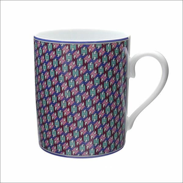 HERMES (エルメス) TIE SET MUG AZUR (マグカップ) BLUE 290-004341-014
