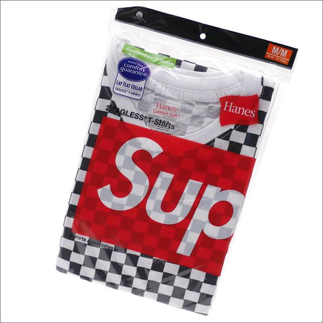 SUPREME(シュプリーム) x Hanes(ヘインズ) Checker Tagless Tees(2 Pack) (Tシャツ2枚セット) CHECKER 200-007787-049x【新品】