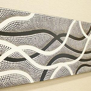 バリ絵画 ドットアート100×35 Obk アートパネル アジアン バリ 絵画 壁掛け モダンアート インテリア アートフレーム ファブリックパネル モダン 北欧 ドットペインティング