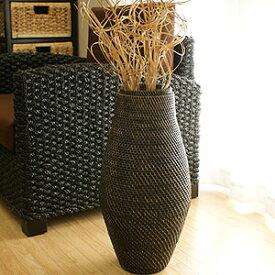 ラタン フラワーベース B ブラックウォッシュ おしゃれ 花瓶 フラワーベース 大きい バスケット アートプランツ アタ アジアン 雑貨 バリ 造花 和室