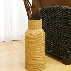 ラタン フラワーベース A ナチュラル (50cm) おしゃれ 花瓶 フラワーベース 大きい バスケット アートプランツ アタ アジアン 雑貨 バリ 造花 和室