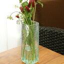 バリガラス フラワーベース クラック スクエア Mサイズ【 花瓶 ガラス フラワーベース おしゃれ 大きい 大型 シンプル…