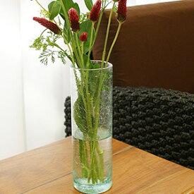 バリガラス フラワーベース クラック ラウンド Mサイズ 花瓶 ガラス フラワーベース おしゃれ 大きい 大型 リサイクルガラス 丸型 シンプル アジアン バリ アジアン雑貨