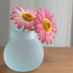 バリガラス ミニ フラワーベース B フロスト 一輪挿し ガラス おしゃれ 花瓶 小さい フラワーベース ミニ 丸型 シンプル 北欧 アジアン 雑貨