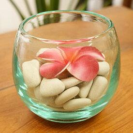 バリガラス 鉢 A おしゃれ プランター ガラス フラワーボウル 花器 フラワーベース 造花 ポプリ アジアン バリ インテリア