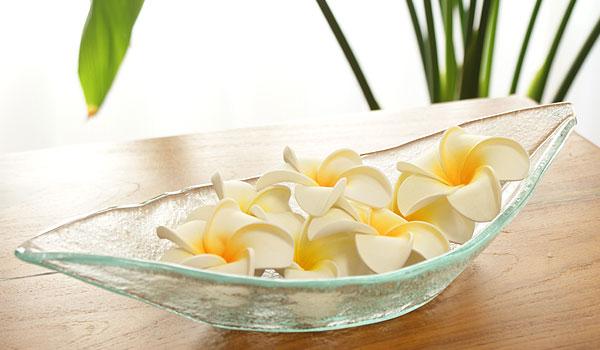 ガラス ボートトレイ トレー バリガラス ボウル 花器 フラワーベース 造花 鉢 ポプリ 観葉植物 アジアン 雑貨 バリ インテリア