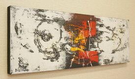 バリ絵画 モダンアート 100×35 30 アートパネル 絵画 インテリア アート 壁掛け アジアン 北欧 モダン 抽象画 ファブリックパネル