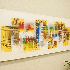バリ絵画 モダンアート 120×45 26 絵画 インテリア おしゃれ 壁掛け 絵 アートパネル 北欧 アジアン バリ ファブリックパネル