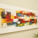 バリ絵画 モダンアート 120×45 29 アートパネル 絵画 壁掛け アート アジアン 雑貨 北欧 モダン 抽象画 アブストラクト