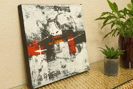 バリ絵画 モダンアート 40×40 30 アートパネル 絵画 インテリア おしゃれ アート 壁掛け アジアン 北欧 モダン 抽象画 ファブリックパネル
