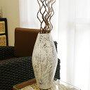 テラコッタ フラワーベース ホワイトウォッシュ シャビーシック アンティーク おしゃれ 花瓶 フラワーベース 大きい モダン 白 ビンテージ シンプル 和 アジアン バリ 造花