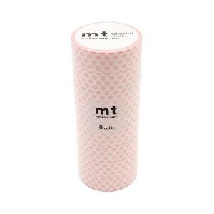 mt マスキングテープ 8P ドット・いちごミルク MT08D357 【同梱・代引き不可】