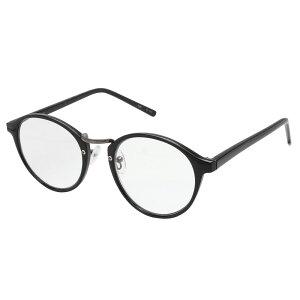 ケース付き 紫外線カット ブルーライトカット RESA レサ 老眼鏡に見えない 40代からのスマホ老眼鏡 丸メガネタイプ ブラック RS-09-2 レディース クリアレンズ カジュアル メガネ拭き付き リー