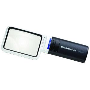 持運び 拡大鏡 ライト付 エッシェンバッハ LEDワイドライトルーペ (4倍) 角型 1511-4 非球面レンズ 4x 携帯 ポータブル コンパクトメーカー直送のため配送日時指定・同梱・代引不可※前払