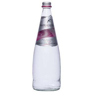 Sanbenedetto サンベネデット ナチュラルミネラルウォーター(炭酸なし) グラスボトル 750ml×12本 【同梱・代引き不可】