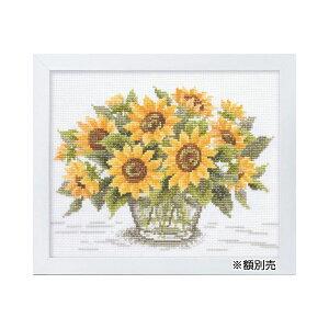 ししゅうキット 7287(白) やさしい花刺しゅう額 サンフラワー メーカー直送のため配送日時指定・同梱・代引不可※前払い決済は、支払い後の注文確定となります。