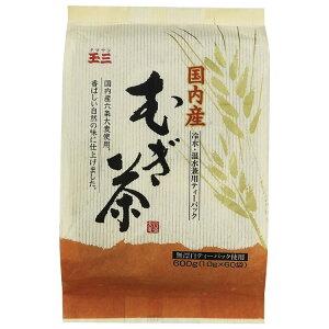 麦茶ティーパック 六条大麦 むぎちゃ 玉三 国内産麦茶(10g×60p)×12個 0507 国産 お茶 香ばしい 水出し 温水メーカー直送のため配送日時指定・同梱・代引不可※前払い決済は、支払い後の注