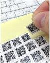 送料無料 名刺用QRコードシール15mm角180枚セット 自由文字列 通常メール便発送 QRコード 名刺用 二次元バーコード 自…
