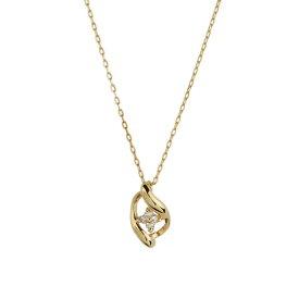ネックレス レディース ダイヤモンド シンプル K10 イエローゴールド 10k 10金 【 ESTELLE エステール 】