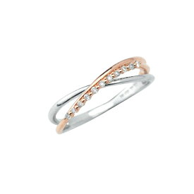 リング レディース ダイヤモンド シンプル K10 ホワイトゴールド ピンクゴールド k10 【 ESTELLE エステール 】