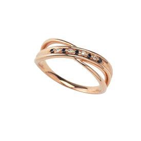 リング レディース ダイヤモンド シンプル かわいい K10 ピンクゴールド k10 【 ESTELLE エステール 】