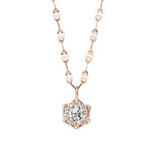 【 お呼ばれアクセサリー 】 ネックレス ダイヤモンド シンプル K18 ピンクゴールド 18金 0.31カラット ロングネックレス 【 ESTELLE エステール 】 誕生石 プレゼント 贈り物 ギフト 記念日 誕生