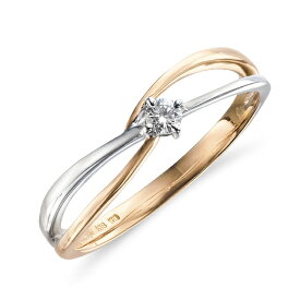 リング レディース ダイヤモンド K18 ピンクゴールド ホワイトゴールド k18 一粒 【 ESTELLE エステール 】