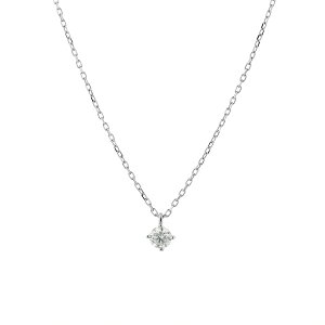ネックレス レディース ダイヤモンド プラチナ シンプル 0.1カラット 一粒 【 BLOOM ブルーム 】 母の日 プレゼント 贈り物 ギフト 記念日 誕生日 ジュエリー アクセサリー ブランド