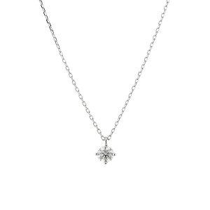 ネックレス レディース ダイヤモンド プラチナ シンプル 0.2カラット 一粒 【 BLOOM ブルーム 】 母の日 プレゼント 贈り物 ギフト 記念日 誕生日 ジュエリー アクセサリー ブランド