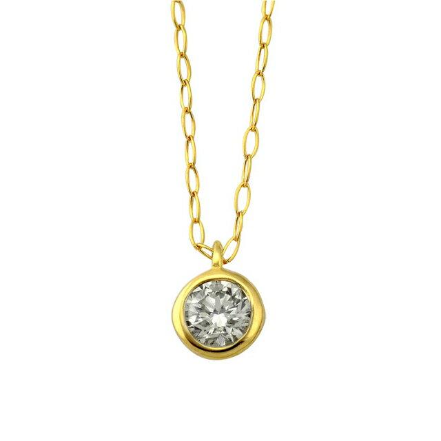 【WEB限定】K18 イエローゴールド ダイヤモンド ネックレス【0.15カラット】【ESTELLE エステール】【誕生石 4月】18金 18k レディース ダイヤ ダイアモンド ダイア 一粒 シンプル プレゼント ギフト