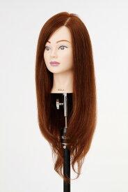 ジェニュイン NBAA アップウィッグ 2 ブラウン 人毛100% ※つむじ有り 髪の長さ::約30cm〜45cm