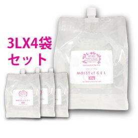 モアナチュリー モイストcfジェル 4袋セット 3kg×4袋 美容成分配合のキャビ&フラッシュジェル、 業務用超音波ジェル