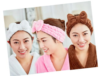 An NEW whip touch ribbon turban color: Pink / white / brown