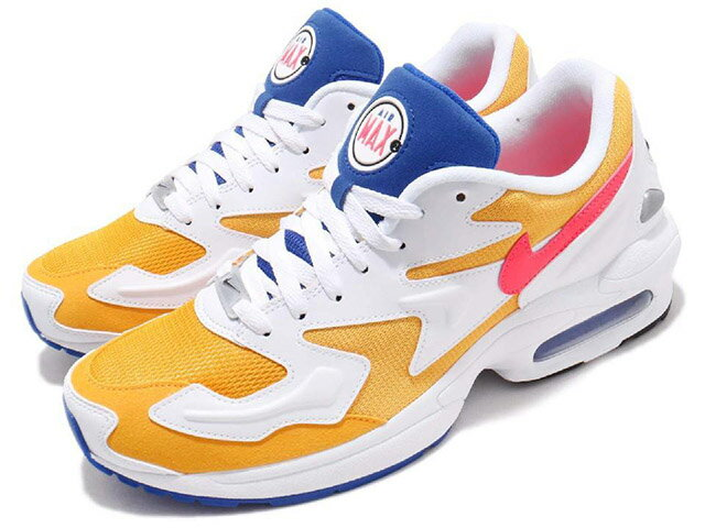 NIKE AIR MAX2 LIGHT RETRO UNIVERSITY GOLDナイキ エア マックス2 ライト レトロ ユニバーシティ ゴールドUniversity Gold/Flash Crimson-Racer Blue19-1-325