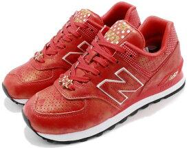 NEW BALANCE WL574DMSニューバランス WL574DMS レディース ランニング シューズ赤金 Red/gold/white